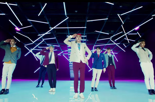 "BTOB in the video for ""Movie."""