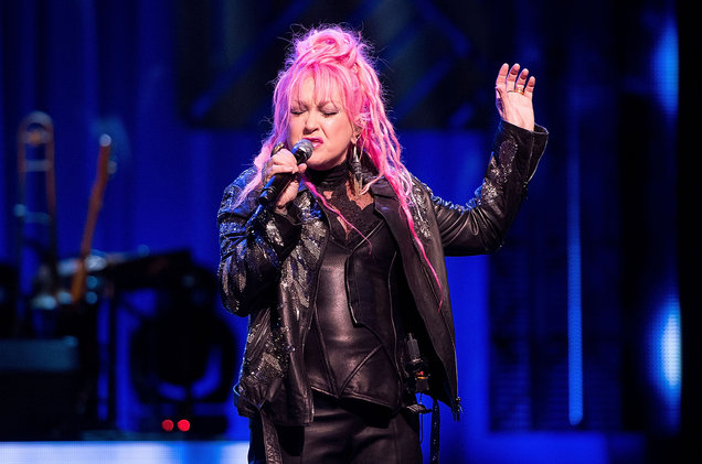 Cyndi Lauper performs at Rosemont Theatre on Nov. 12, 2016 in Chicago.