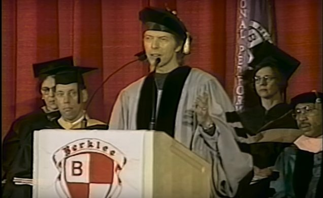 David Bowie speaking at the Berklee Commencement Address