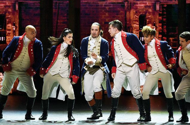 The cast of Hamilton at the Tony Awards onJune 12.
