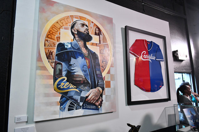 A general view of Nipsey Hussle Exhibit Unveiling at The Trap Music Museum on Aug. 13, 2019 in Atlanta.