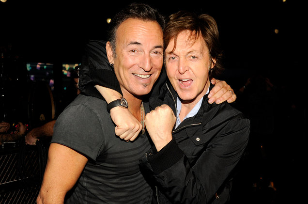 Bruce Springsteen and Paul McCartney