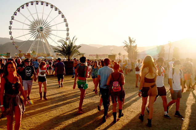 A general view of atmosphere during day 2 of the 2016 Coachella Valley Music & Arts Festival Weekend 2 at the Empire Polo Club on April 23, 2016 in Indio, Calif.