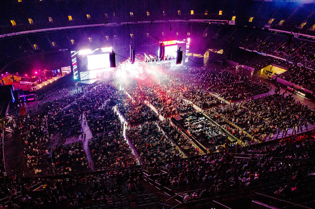 A general view of the atmsophere at the 2017 Essence Festival at the Mercedes-Benz Superdome on July 2, 2017 in New Orleans.