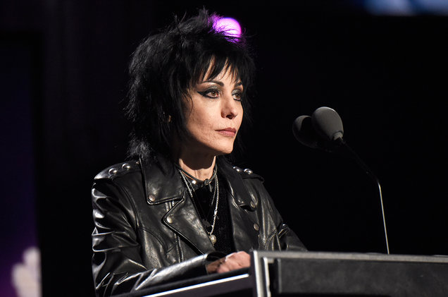 Joan Jett speaks during the 30th Annual Rock And Roll Hall Of Fame Induction Ceremony at Public Hall on April 18, 2015 in Cleveland.
