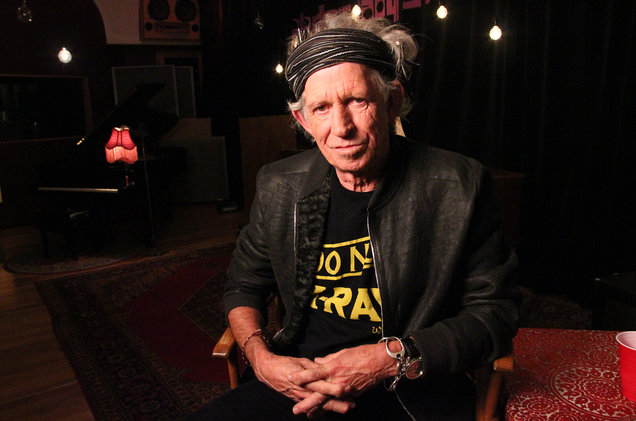 Keith Richards photographed in 2013