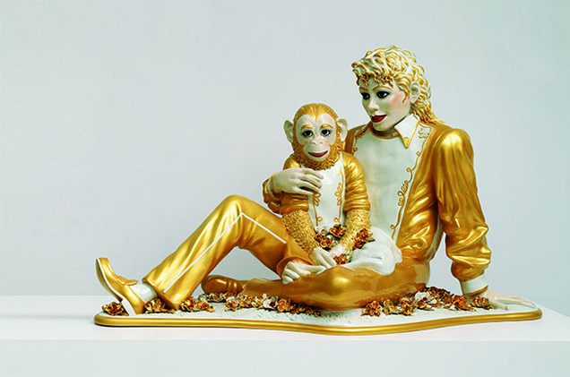 Jeff Koons, Michael Jackson and Bubbles, 1998