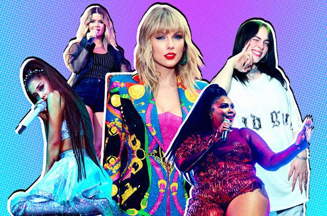Ariana Grande, Maren Morris, Taylor Swift, Lizzo and Billie Eilish