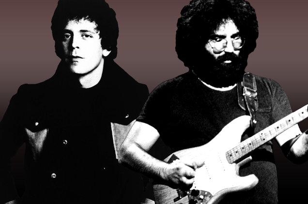 Lou Reed and Jerry Garcia