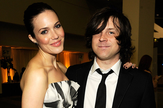 Mandy Moore and Ryan Adams attend The 2012 MusiCares Person Of The Year Gala