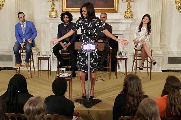 Michelle Obama Hamilton 2016