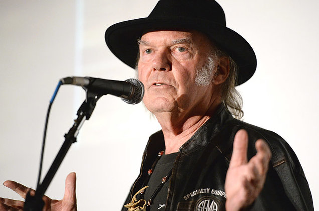 Honoree Neil Young attends the 56th GRAMMY Awards P&E Wing Event Honoring Neil Young at The Village Recording Studios on January 21, 2014 in Los Angeles, California.