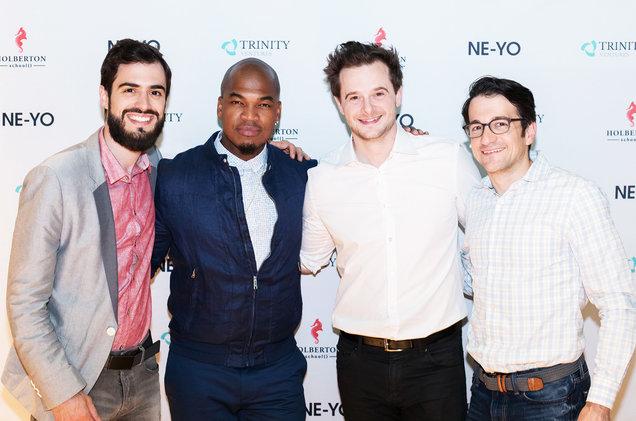 Ne-Yo, Trinity Partner Dan Scholnick, and the founders of Holberton School Sylvain Kalache and Julien Barbier