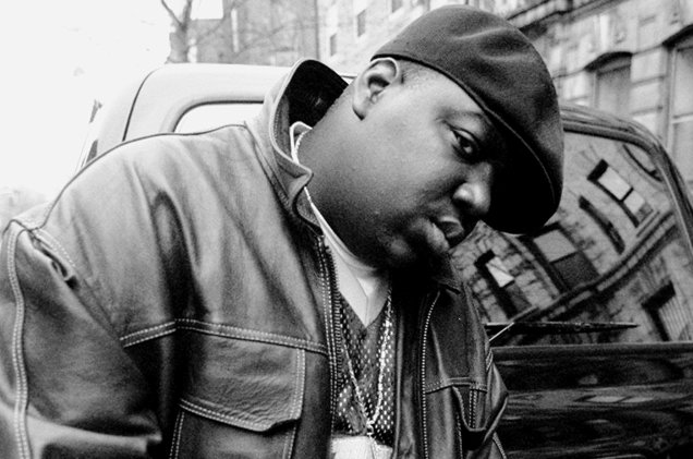Notorious B.I.G. photographed in New York City.