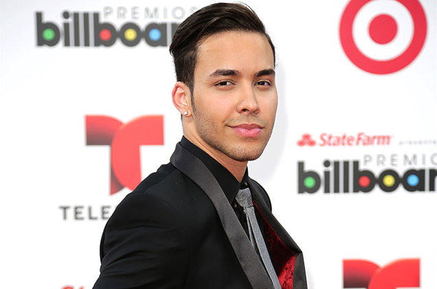 Prince Royce on the red carpet at the Billboard Latin Music Awards on April 24, 2014.