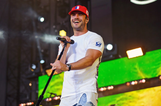 Sam Hunt performs at Northerly Island on June 17, 2016 in Chicago.