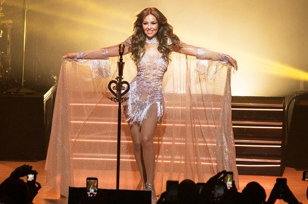 Thalia performs in her Latina Love Tour