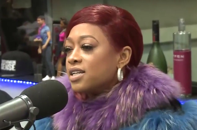 Trina during an interview at The Breakfast Club Power 105.1 on Jan. 18, 2017.