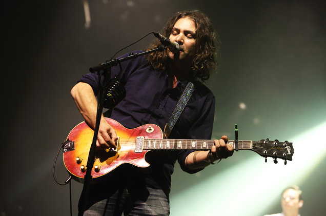 Adam Granduciel of The War on Drugs performs at Grande Halle de La Villette on Oct. 30, 2014 in Paris.