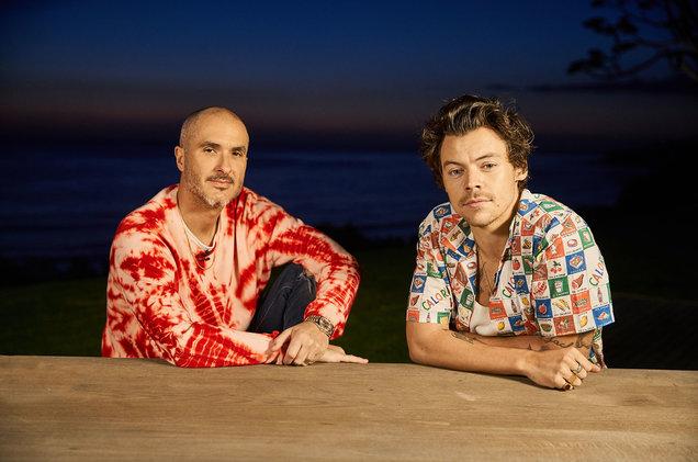 Zane Lowe and Harry Styles