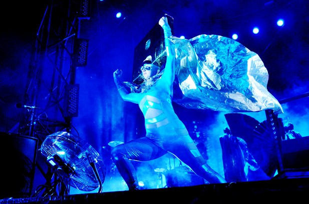 Lady Gaga Fires Up Lollapalooza, Stage-Dives