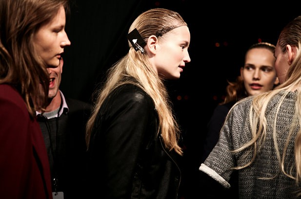 Backstage at BCBGMAXAZRIA