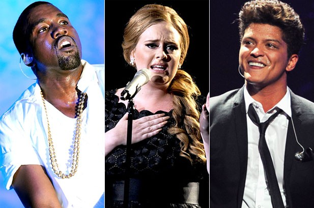 The Grammys: Adele, Kanye West Lead Nominations