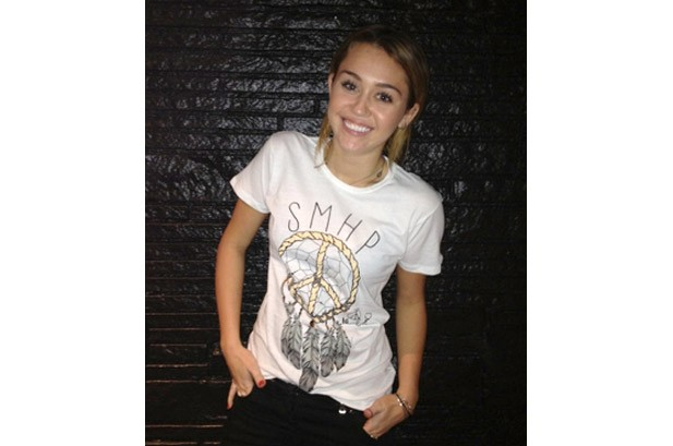 Miley Cyrus Designs T-Shirt With Brother