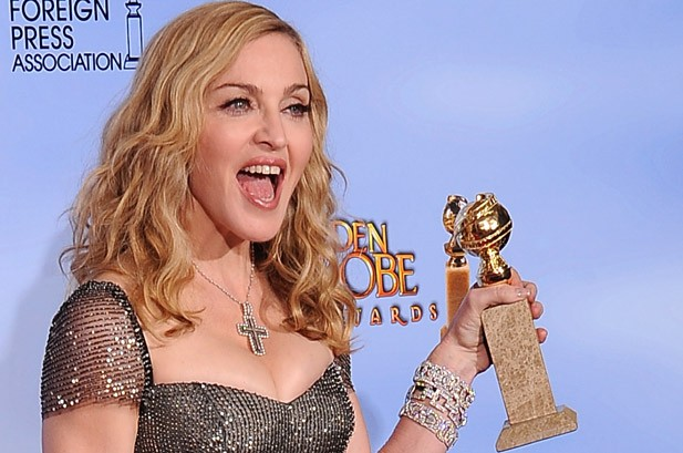 Madonna Wins Best Song at Golden Globes, Jabs 'Girl' Ricky Gervais
