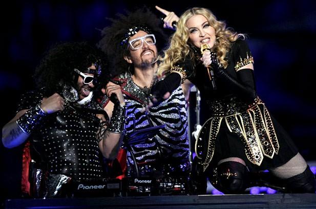 Photos: Madonna at Super Bowl XLVI