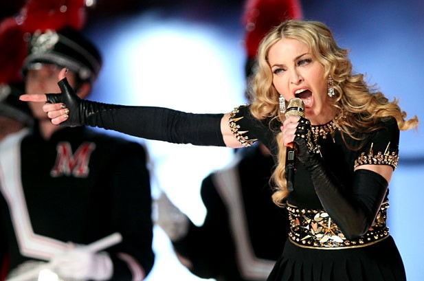 Photos: Madonna at Super Bowl XLVI