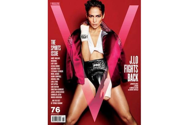 J.Lo Plays Gender-Bending Boxer for V Magazine Cover