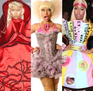 Blonde Blue Half and Half Nikki Minaj ADULT Wig Costume Accessory NEW