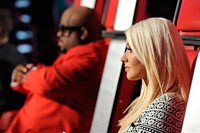 Christina Aguilera, Cee Lo Hit the Studio