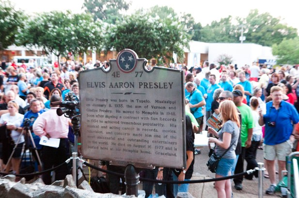 Elvis Presley's Widow, Daughter Surprise Graceland on 35th Anniversary of Death