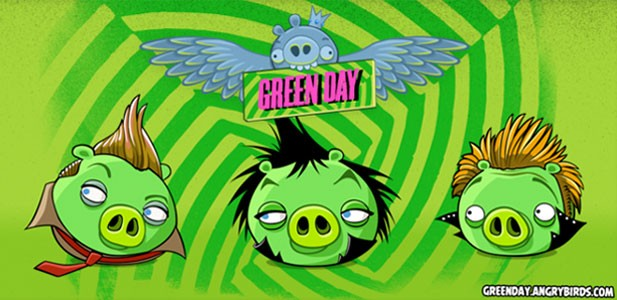 Green Day Partners With Angry Birds