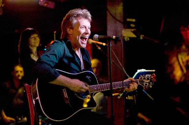Jon Bon Jovi Stands 'Up' for New Movie Songs at Club Gig