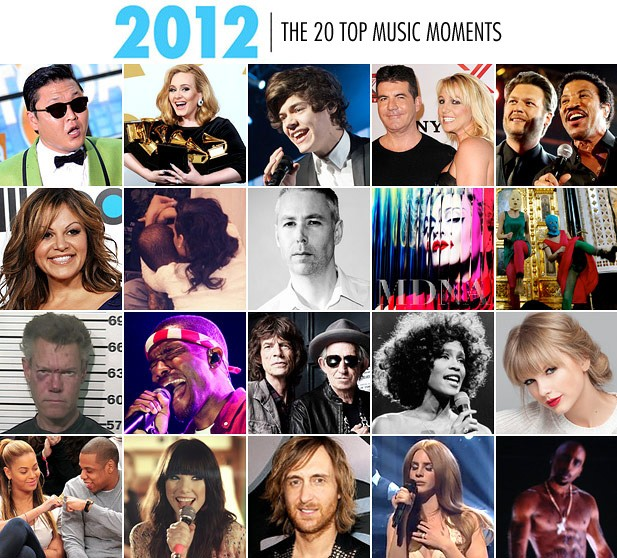 Top 20 Music Moments of 2012: Whitney, PSY, Pussy Riot & More