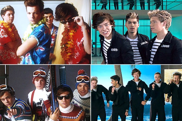One Direction 'Kiss You' in Jail, on the Beach in Retro Video