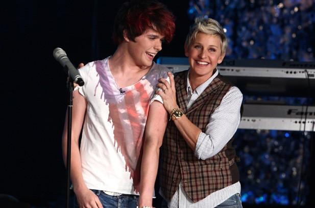 Ellen DeGeneres Signs 16-Year-Old Tom Andrews to Record Label