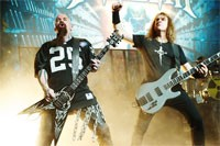 Slayer's Kerry King Performs with Megadeth
