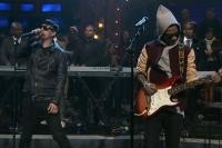 Kid Cudi Performs With St. Vincent, Cage on 'Jimmy Fallon'